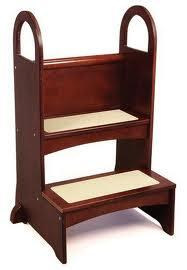 G97017 High Rise Children's Step-Up  with Arched Safety Side Rails and Textured Non-Slip Stair Treads in