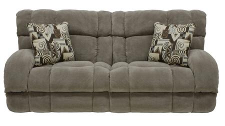 Siesta Collection 61761-1983-49/1984-49 93 Power Lay Flat Reclining Sofa With Lay Flat Reclining  Polyester Fabric Upholstery And Track Arms In Porcini And