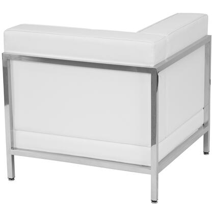 ZB-IMAG-LEFT-CORNER-WH-GG HERCULES Imagination Series Contemporary White Leather Left Corner Chair with Encasing