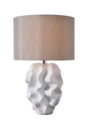 Ruffle 33157WH Table Lamp with 3-Way Socket Switch  15