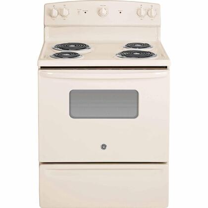 "GE 30"" Freestanding Electric Range Bisque JBS10DFCC"