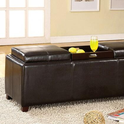 Norwich CM-BN6043 Tray Top Storage Ottoman with Contemporary Style  3 Flip Top Tray  Espresso Finish  Storage Ottoman in