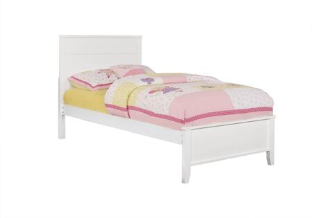 Ashton Collection 400761T Twin Size Panel Bed with Clean Line Design  Low Profile Footboard  Sleek Tapered Legs and Wood Construction in