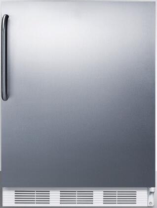 FF6SSTBADA 24 inch  FF6ADA Series ADA compliant Freestanding Compact Refrigerator with 5.5 cu. ft. Capacity  Interior Lighting  Door Storage and Automatic Defrost: