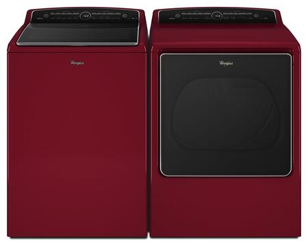 Cabrio Red Top Load Laundry Pair with WTW8500DR 28