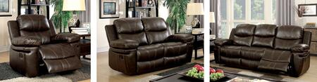Listowel Collection CM6992-SLR 3-Piece Living Room Set with Motion Sofa  Motion Loveseat and Recliner in