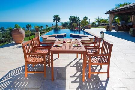 V98SET15 Outdoor Wood English Garden Dining Set