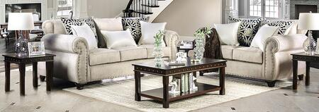 Sinatra SM6152-SFLV3PK 5-Piece Living Room Sets with Sofa  Loveseat  Coffee Table and 2 End Tables in Light
