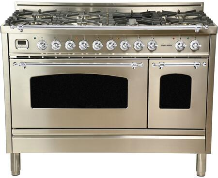 HGR4802DFSTLP 48 inch  Dual Fuel Liquid Propane Range with 7 Sealed Burners  5 cu. ft. Total Capacity True Convection Oven  Griddle  in Stainless