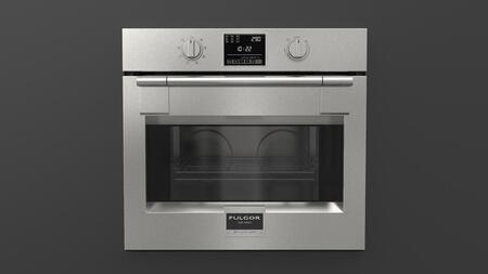 F6PSP30S1 30 inch  600 Series Pro Single Wall Oven with 4.4 cu. ft. Capacity  Self Cleaning  Dual Convection  3 Halogen Lighting  2 Chrome Racks and a Telescopic