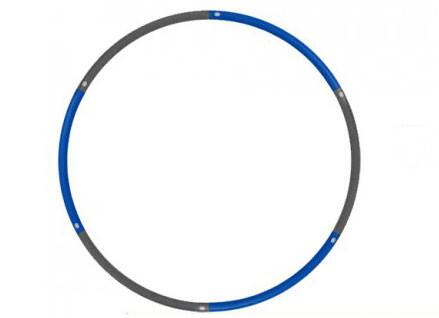 JAS-100-HULA-4.4 Weighted Hu-La Hoop with Foam Covers  Compact for Storage  Extra Wide and Extra Weighted  in