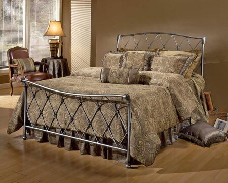 Silverton Collection 1298BFR Full Size Bed with Headboard  Footboard  Rails  Decorative Latticework  Open-Frame Panel Design and Tubular Metal Construction in