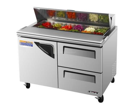 TST48SDD2 12 cu. ft. Sandwich and Salad Unit with 2 Drawers  1 Door  Cold Air Compartment  Convenient Cutting Board Side Rail  Hot Gas Condensate System and