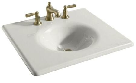 K-3048-1-0 White Cast Iron Top&Basin