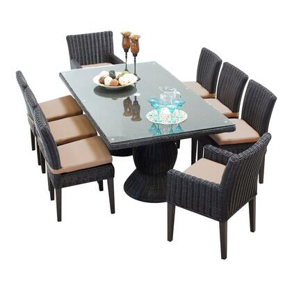 Venice-rectangle-kit-6adc2dcc Venice Rectangular Outdoor Patio Dining Table With With 6 Armless Chairs And 2 Chairs W/ Arms With 1 Cover In
