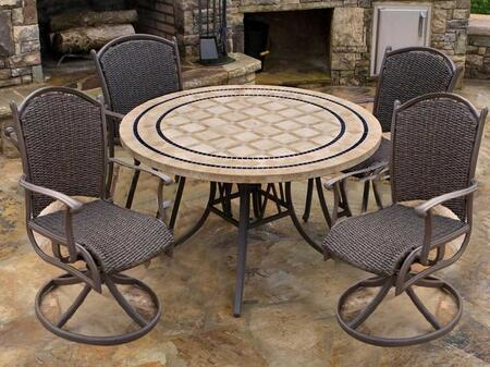 MQS-5PC-SWV Marquesas 5Pc Dining Set with 48