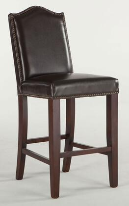 Sofia Zwsf73cccl 42 Counter Height Bar Stool With Nail Head Trim  Artisan Frame  Tapered Legs And Leather Seat Upholstery In Chestnut