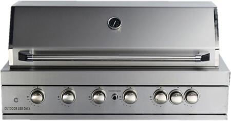 "MABI805 44"""" Built-In Grill with Six 304 Stainless Steel Tube Burners  Rotisserie Kit with Heavy Duty Electric Motor  Halogen Lights  Knob Controls  Electronic"" 735274"