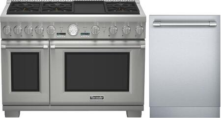 2-Piece Stainless Steel Kitchen Package with PRG486JDG 48