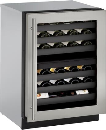 U-Line U3024ZWCS00B 24 Inch Stainless Steel Built-In Wine Cooler