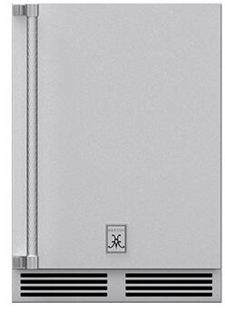 "GRWSR24 24"" Outdoor Dual Zone Refrigerator with Two Full-Extension Wine Storage Shelves and Locking Right Hinge Solid Door in Stainless"