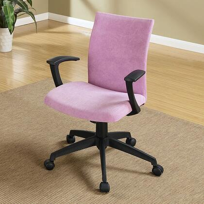 Crofter CM-FC635PR Office Chair with Swivel Bar Stool with Armrests  Fabric Seat  Height Adjustable in