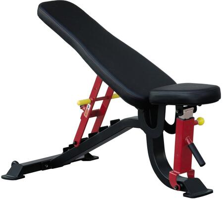 E-4992 Iron Series 7011 FID Bench with Highlighted Seat Adjustment Levers  Hight Density Foam Upholstery and Rubber Feet in Black and