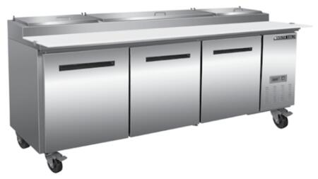 MXCPP92  Undercounter Refrigerator and Pizza Preparation Table with 12  22 & 32 cu. ft. Capacity  4 Casters  Self Contained  Automatic Defrost  Forced Air