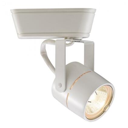JHT-809-WT  J/J2  Track 50W Low Voltage Track Head with Swivel Yoke  Clear Lens and Die-cast Aluminum Construction in