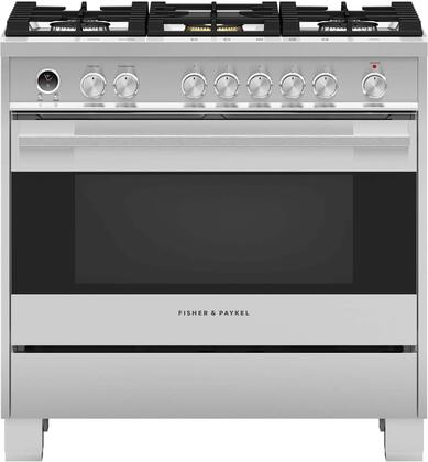 Fisher Paykel OR36SDG6X1 Contemporary Series 36 Inch Freestanding Dual Fuel Range