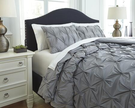 Rimy Q756023Q 3-Piece Queen Size Comforter Set includes 1 Comforter and 2 Standard Shams with Quilted Pleat Design  200 Thread Count and Cotton Material in