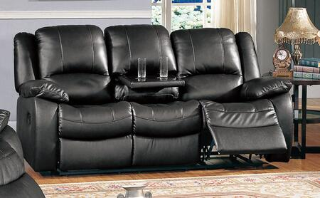 CL8813S-BK Clermont 80 inch  Recliner Sofa in