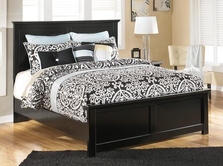 Maribel B138-54/57/96 Queen Size Panel Bed with Clean-Line Design  Scalloped Top and Base and Low Profile in