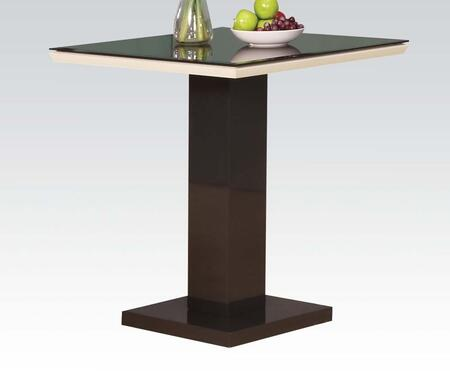 71310 Norwin Counter Height Table in Black with White