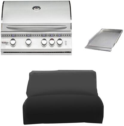 3-Piece Stainless Steel Outdoor Kitchen Package with SIZ32NG 32