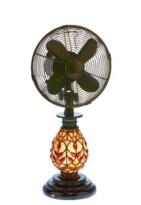 DBF6132 Table Fan/Light - Tiffany Glass