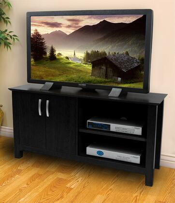 W44COSBL 44 Black Wood TV Stand