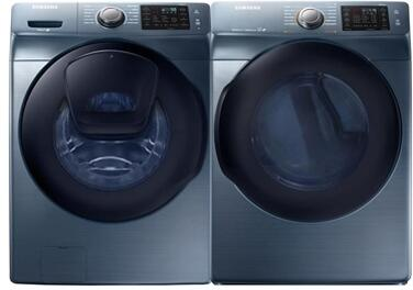 Azure Front Load Laundry Pair with WF45K6200AZ 27 inch  Front Load Washer and DV45K6200GZ 27 inch  Gas