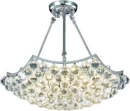 V9802D22C/SS 9802 Corona Collection Chandelier D:22In H:17In Lt:6 Chrome Finish (Swarovski   Elements