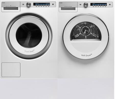 White Front Load Laundry Pair with W6124XW 24