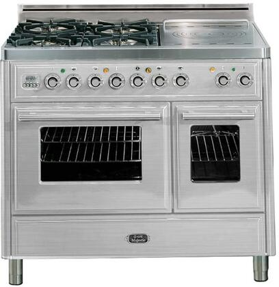 "UMTD100SDMPI 40"""" Freestanding Dual Fuel Range with 4 Sealed Burners  French Cooktop  3.88 cu. ft. Total Oven Capacity  Warming Drawer  Rotisserie  Digital"" 711689"