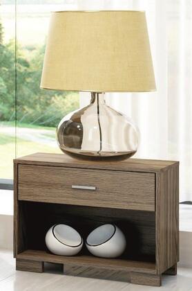 50736 Manhattan Comfort 1- Shelf  1- Drawer Astor Nightstand in Chocolate/ Pro