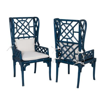 694018P Bamboo Wing Back Chair