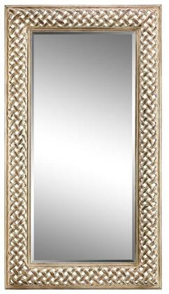 Amelia Manor Collection 13460 76 inch  Wall Mirror with Open Braid Design  Rectangular Shape and Powder Glaze in
