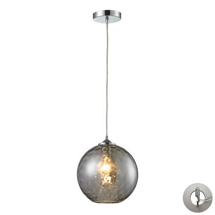 31380/1SMK-LA Watersphere 1 Light Pendant in Polished Chrome with Adapter