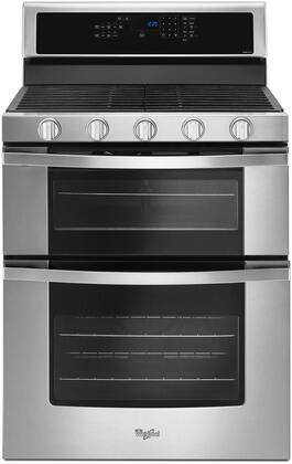 Whirlpool WGG745S0FS 6.0 Cu. Ft. Stainless Gas Double Oven Range