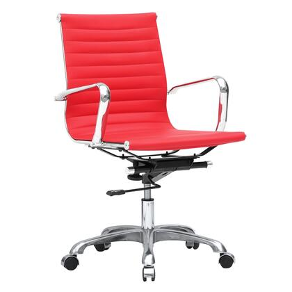 FMI1160-red Fine Mod Imports Modern Conference Office Chair Mid Back  in