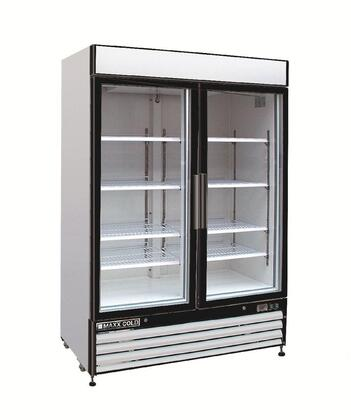 MXM2-48F Freezer Merchandiser with 48 cu. ft. storage capacity   Double Pane Glass Self-closing Door  Coated Wire Shelves  lighted Top Panel  LED Lighted