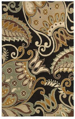 Panpr814200160508 Pandora Pr8142-5 X 8 Hand-tufted Hard + Fine-twist New Zealand Wool Blend Rug In Charcoal  Rectangle