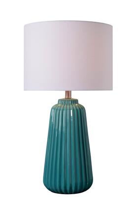 Ziggy 33158TEAL Table Lamp with 3-Way Socket Switch  14